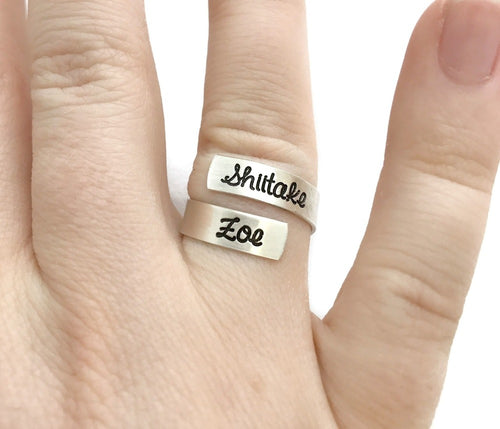 Sterling Silver Skinny Wrap Ring