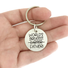 Load image into Gallery viewer, World's Greatest Farter Father Keychain