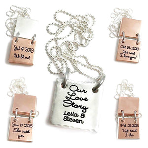 Our Love Story - Storybook Necklace