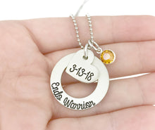 Load image into Gallery viewer, Endo Warrior Necklace - Endometriosis Awareness