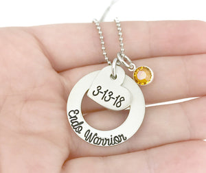 Endo Warrior Necklace - Endometriosis Awareness