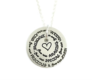 You Are Loved - Spiral Necklace