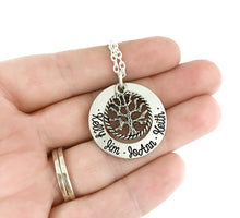 Load image into Gallery viewer, Family Tree Necklace - Silver Round Tree