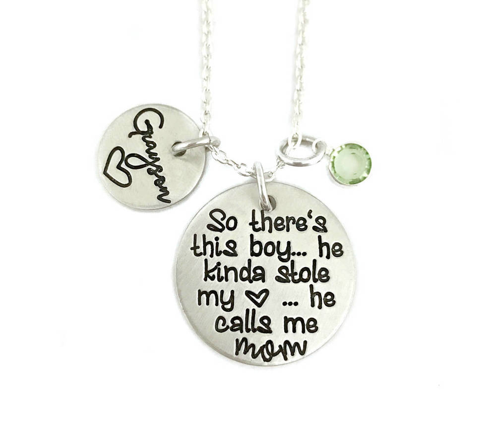 There's This Boy - He Calls Me Mom Necklace
