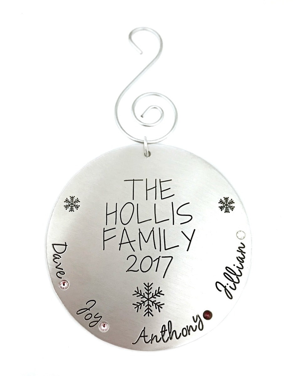 Personalized 2017 Family Christmas Ornament