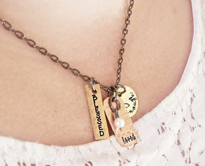 Mixed Metal Motivational Necklace