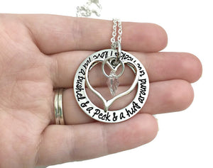 I Love You A Bushel And A Peck And A Hug Around The Neck Necklace