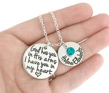 Load image into Gallery viewer, God Has You In His Arms Personalized Necklace