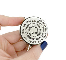 Load image into Gallery viewer, Inspirational Retractable ID Badge Holders - Spiral Design
