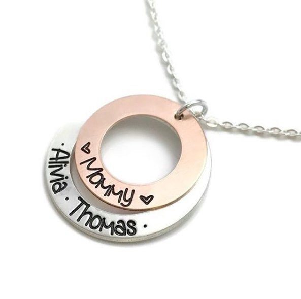 Mommy - Mixed Metal Necklace