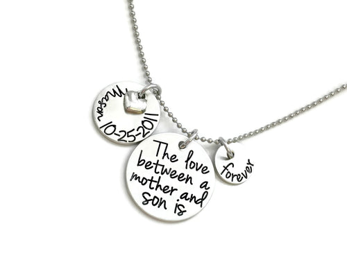 The Love Between A Mother And Son Is Forever Necklace