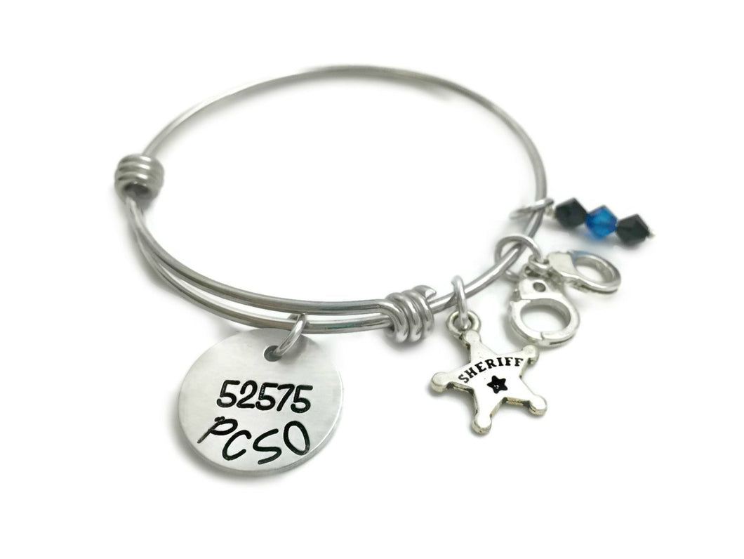 State Trooper Police Officer Firefighter Deputy Charm Bracelet