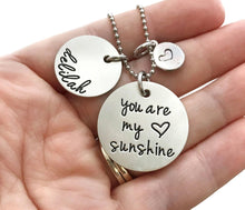 Load image into Gallery viewer, You Are My Sunshine Heart Charm Necklace