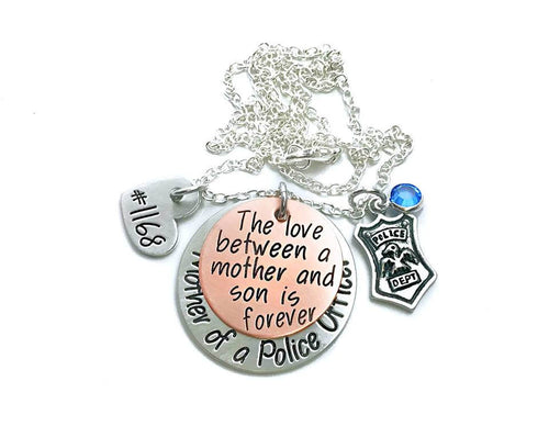 Mother of A Police Officer Necklace