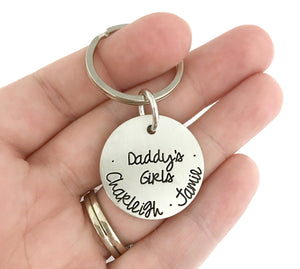 Daddy's Girls Keychain