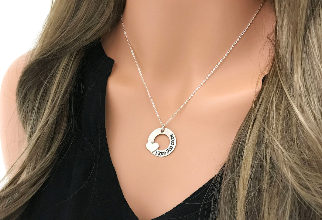 I Love You More Necklace - Sterling Silver