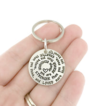 Load image into Gallery viewer, You Are Braver - Spiral Hearts Key Chain