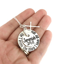 Load image into Gallery viewer, For I Know The Plans I Have For You Sterling Silver Necklace