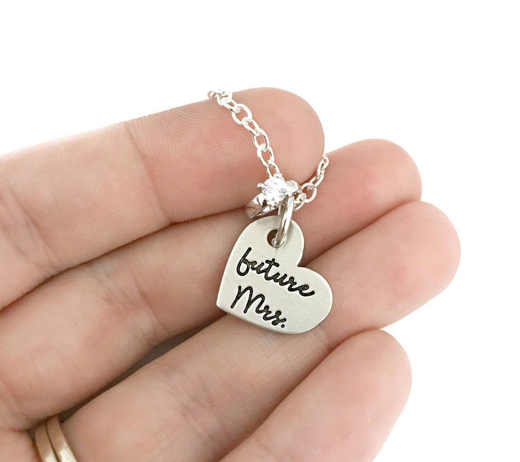 Future Mrs Necklace - Small Heart
