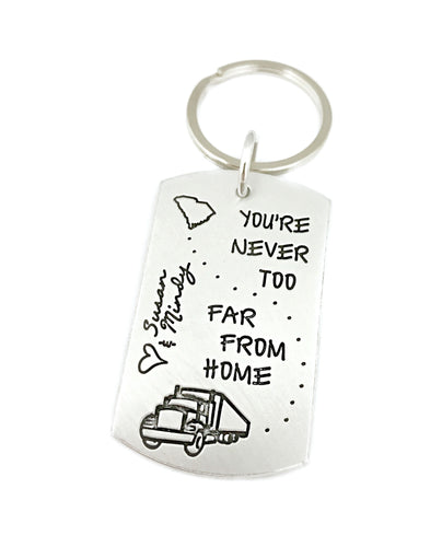 Trucker Personalized Keychain