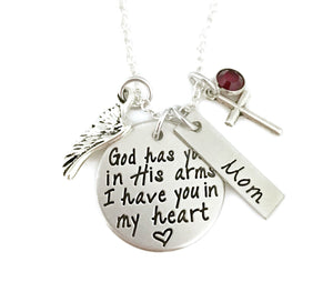 God Has You In His Arms Personalized Necklace