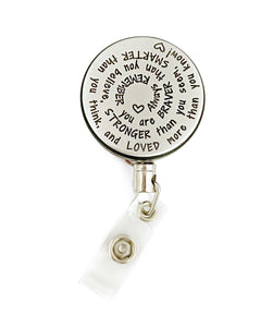 Inspirational Retractable ID Badge Holders - Spiral Design