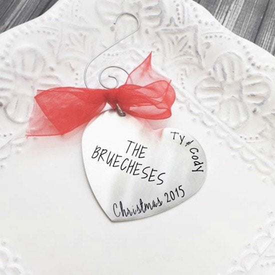 Newlyweds Christmas Heart Ornament