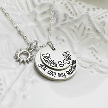Load image into Gallery viewer, You Are My Sunshine Cursive Necklace