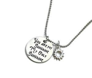 You Are My Sunshine My Only Sunshine Necklace