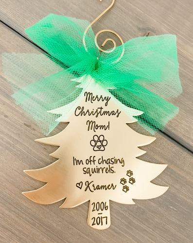 Pet Memorial Christmas Ornament - Tree