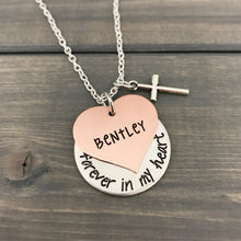 Load image into Gallery viewer, Forever In My Heart Memorial Necklace