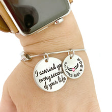 Load image into Gallery viewer, I Carried You Every Second of Your Life Angel Wings Bracelet