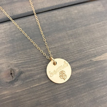 Load image into Gallery viewer, Personalized 14k Solid Gold Necklace - 5/8""