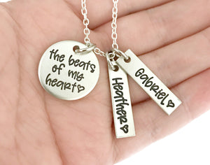 The Beats of my Heart Personalized Necklace