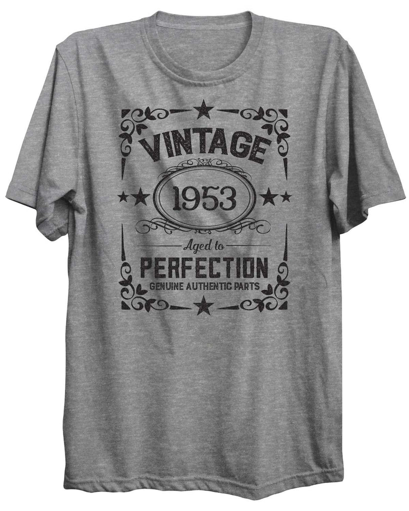 Vintage Birthday Personalized Custom 09 Unisex Tshirt