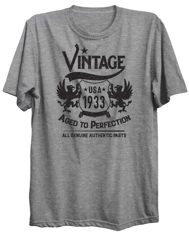 Vintage Birthday Personalized Custom 16 Unisex Tshirt