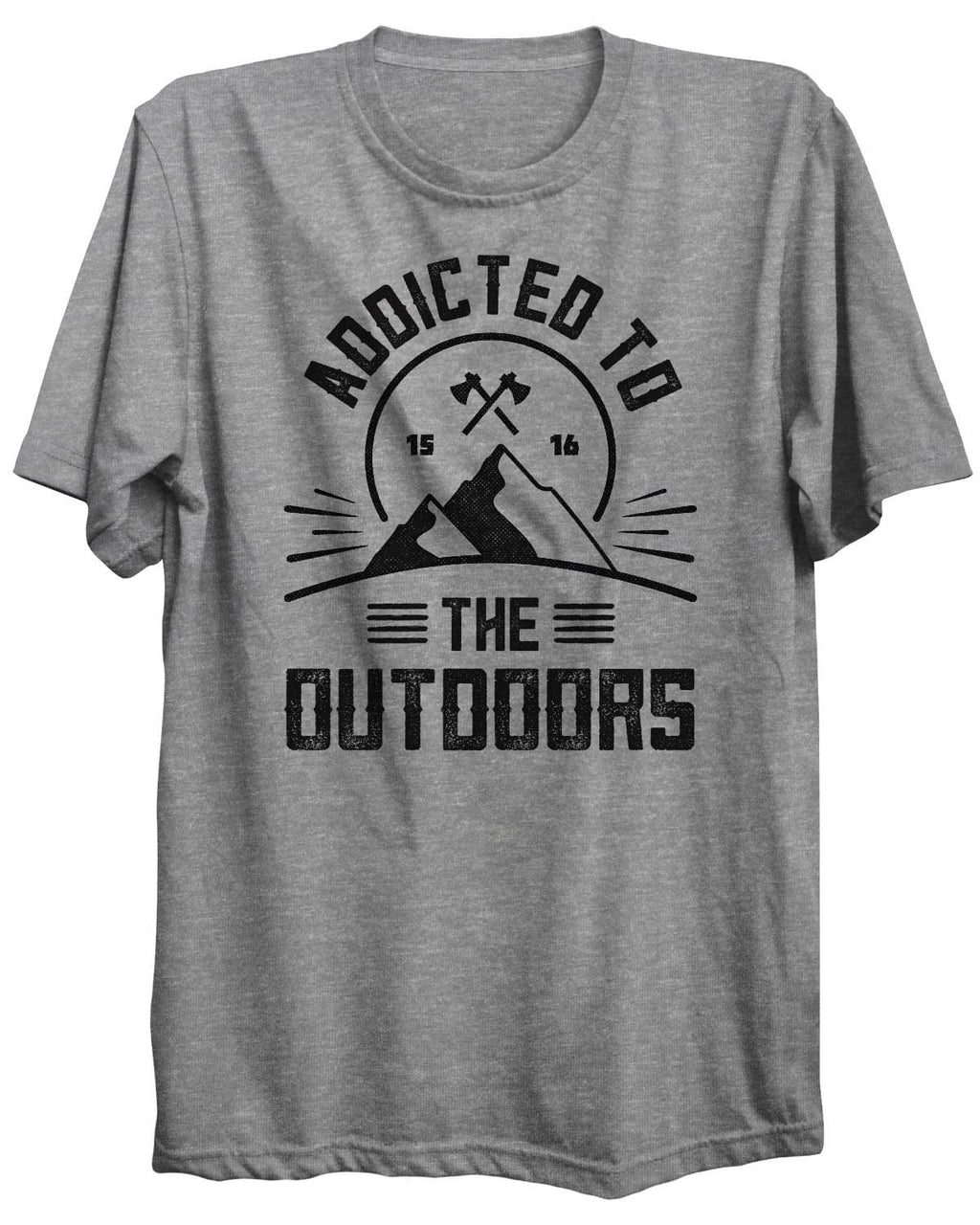Addicted To The Outdoors Camping Unisex Tshirt