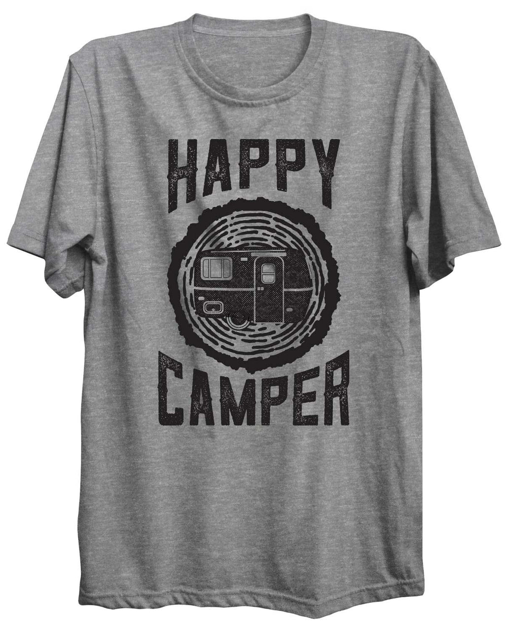 Happy Camper Camping Outdoors Unisex Tshirt