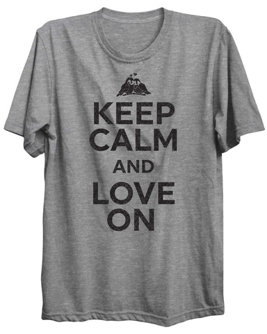 Keep Calm And Love On Valentine Unisex Tshirt