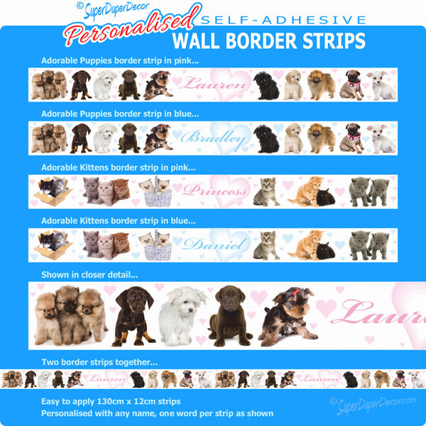 Adorable Animals - wall border