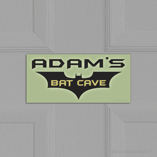 BatCave - door plaque