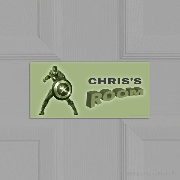 Captain America - door plaque