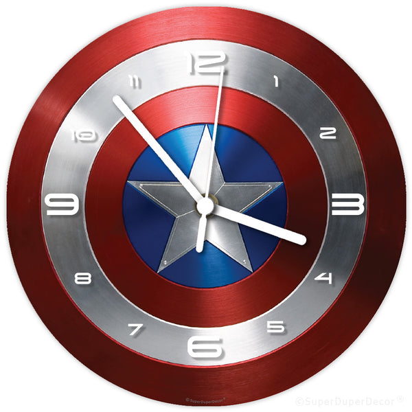 Captain America Shield - wall clock