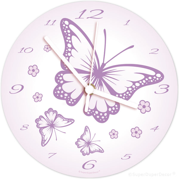 Chasing Butterflies - wall clock