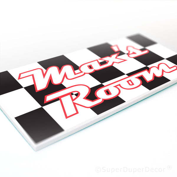 Checkered Flag - door plaque