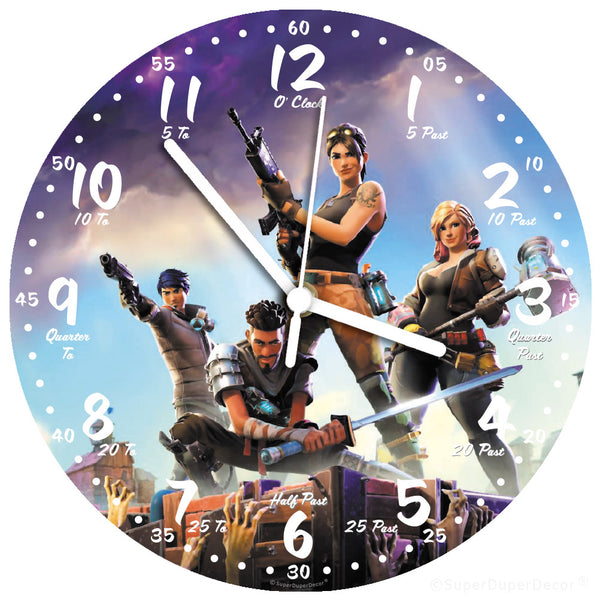 Fortnite game cover - wall clock