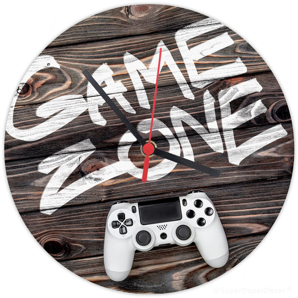 Game Zone woodgrain - wall clock