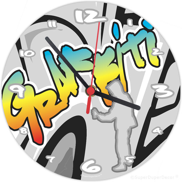 Graffiti Style - wall clock