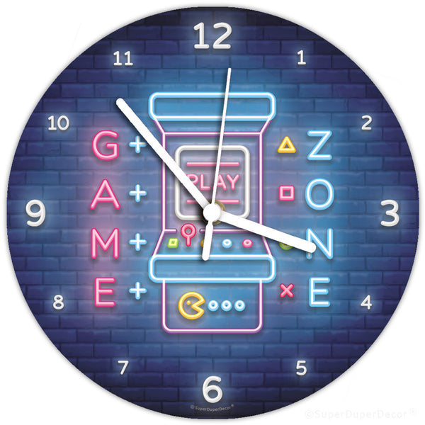 Video Gamer neon style - wall clock