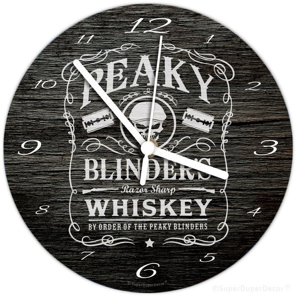 Peaky Blinders Whiskey - wall clock